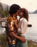 Raphael (first husband) and me, Lodge honeymoon 1981